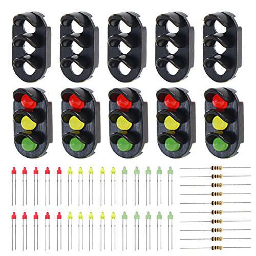 Evemodel JTD13 10 Sets Target Faces with LEDs for Railway Signal N or Z Scale 3 Aspects