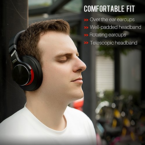Proxelle Wireless Headphones Over Ear Active Noise Cancelling Portable Bass HiFi Stereo Wired and Wireless Headsets with Airplane Adapter for Travel Work iPhone Android PC Cell Phones TV Serenity by Proxelle (Image #5)