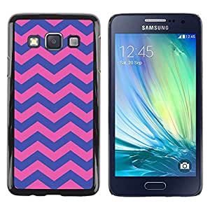 LECELL--Funda protectora / Cubierta / Piel For Samsung Galaxy A3 SM-A300 -- Purple Pink Girly Pattern --