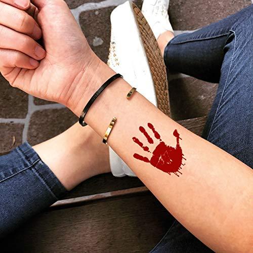 (Bloody Temporary Fake Tattoo Sticker (Set of 2) -)