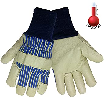 Global Glove 2900KW Insulated Grain Pigskin Glove with Knit Wrist Cuff, Work, 2X-Large (Case of 72)