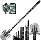 ANTARCTICA Military Folding Shovel Multitool Compact Backpacking Tactical Entrenching Tool for Hunting, Camping, Hiking, Fishing (Silver)