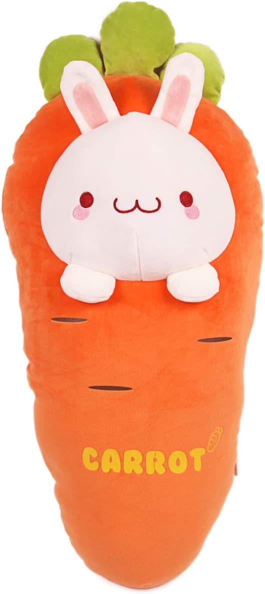 ARELUX Carrot Rabbit Plush Sleeping Hugging Pillow,Cute Stuffed Animals Doll Toy Gifts for Christmas,Valentine,Decorations for Sofa,Chair,Office