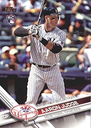 68ef2ebb5 2017 Update Series  US99 Aaron Judge New York Yankees Baseball Rookie Debut  Card