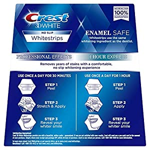 Crest 3D White Professional Effects Whitestrips 20 Treatments + Crest 3D White 1 Hour Express Whitestrips 2 Treatments - Teeth Whitening Kit - Health Net Store USA