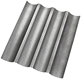 E.P 4PCS Non-stick Perforated Baguette Pan French Bread Mold, 1 Pack