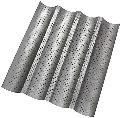 E.P 4PCS Non-stick Perforated Baguette Pan French Bread Mold, 1 Pack by E.P