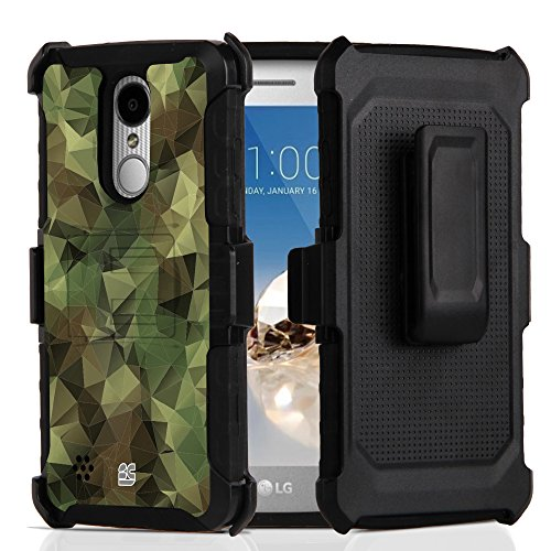 LG ARISTO 2/TRIBUTE DYNASTY Case, Trishield Gear Durable Hybrid Rugged Armor Black Phone Cover With Kickstand Belt Clip Holster For LG ARISTO 2/- Printed Camo Future