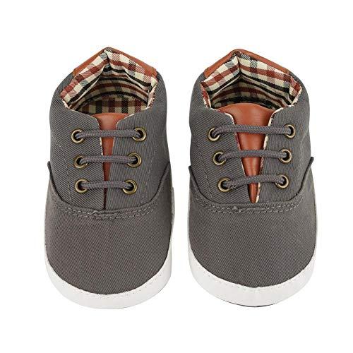 Zapatos Casuales con Cordones Primer Calzado Calzado Suela Antideslizante Suave Toddler Lienzo Moda Prewalker(#7)