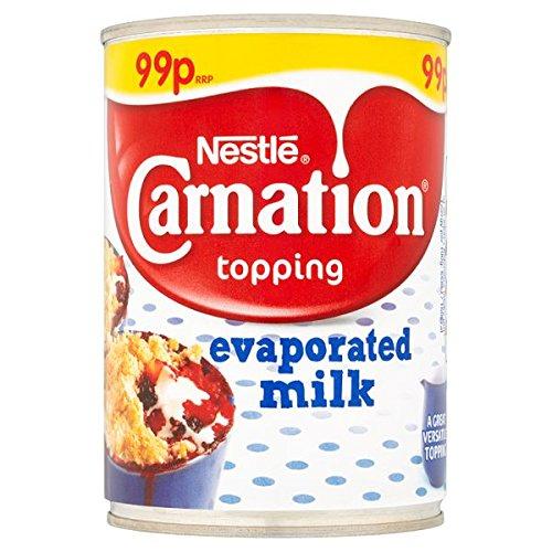 Carnation Topping leche evaporada 410g (paquete de 12 x 410g)
