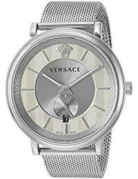 Men's 'THE MANIFESTO EDITION' Quartz Stainless Steel Casual Watch, Color:Silver-Toned (Model: VBQ060017)