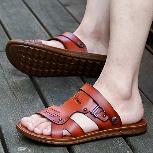 scuro estate 39915 sandali ZHANGJIA 38 uomo marrone F6nZqUn