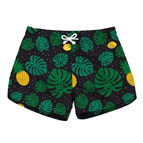 YICHUN Pantaloncini Pantaloncini YICHUN Donna Leaf Green rrFqB7xd