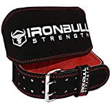 Padded WeightLifting Belt - 6-inch Suede Leather Weight Belt - Heavy Duty And Comfortable Back Support For Heavy Weight Lifting, Crossfit and Fitness