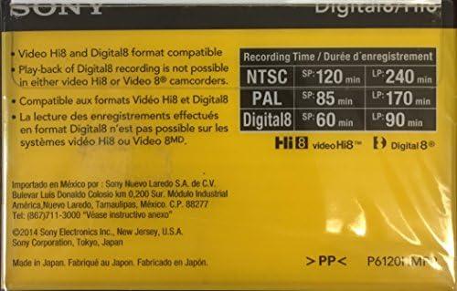 Sony Hi-8 HMPD 120 minute 2-Pack Video Camcorder Cassette
