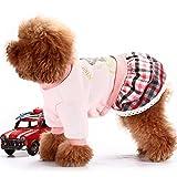 Lovely Pet Costume Dog warm coat woolen skirt pet wear ,XS-MEELU