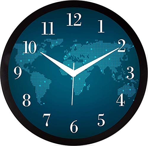 RAG28 11.75 Inches Designer Round Wall Clock with Glass for Home / Kitchen / Living Room / Bedroom (9101)