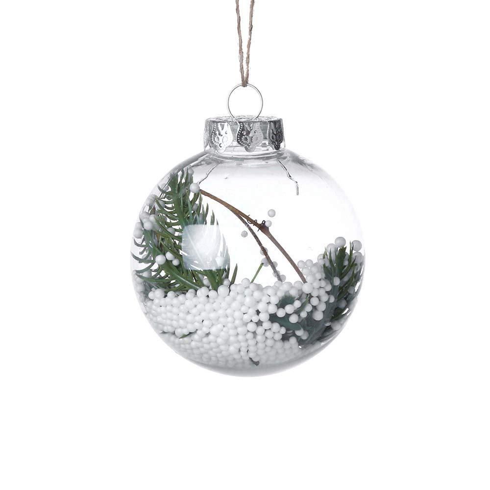 Clearance Sale! Christmas Ball Ornaments for Kids and Adults, Iuhan Christmas Ball Ornaments Christmas Decorations Tree Balls for Holiday Wedding Party Decoration, Tree Ornaments 3.15''/80MM (D)