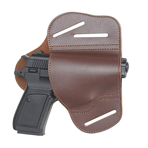 - 1911 Holster,Outside the Waistband Leather Gun Holster Fits 1911 Style Handguns