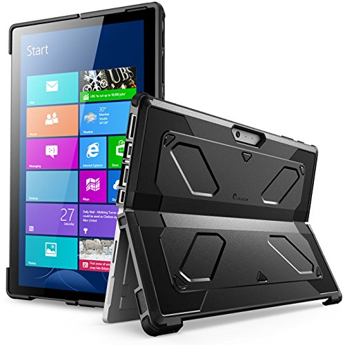 The New Surface Pro 2017 Case, [Heavy Duty] i-Blason Armorbox Dual Layer Hybrid Full-body Protective Kickstand Case Compatible With Microsoft Surface Pro 4 2015 [NO BUILT IN SCREEN PROTECTOR] (Surface Protective Case)