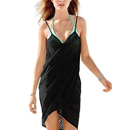 LerBen Womens Girls Lace Sexy Cover Up BeachWear Swimwear Bikini Summer Sun Dress