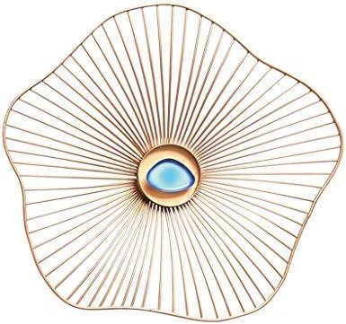 欧州のウォールミラー、リビングルーム三次元の装飾鍛造アイアンハンギング JZ02/26 (Size : 35cm)
