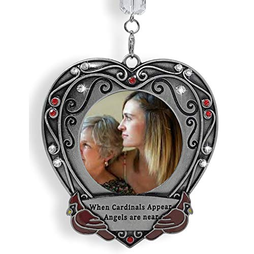 BANBERRY DESIGNS Memorial Christmas Ornament - When Cardinals Appear Angels are Near - Holiday Picture Ornament - in Loving Memory -