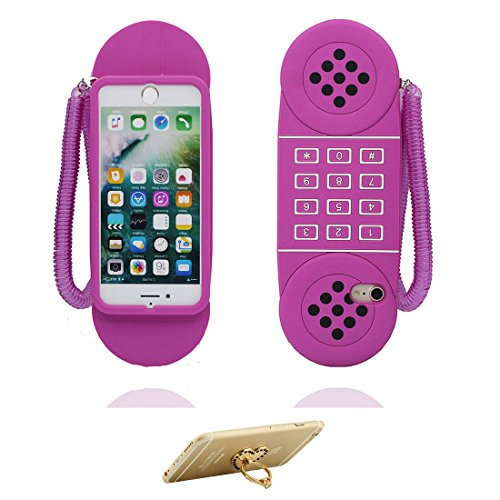 """iPhone 7 Plus Coque, Housse Étui pour iPhone 7 Plus, 3D téléphone Cover TPU Material Flexible iPhone 7 Plus Case (5.5""""), Résistant aux rayures et ring Support de téléphone"""