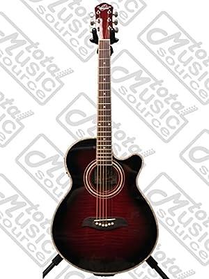 Oscar Schmidt Og10ce Concert Cutaway Acoustic-electric Guitar Guitars & Basses Black