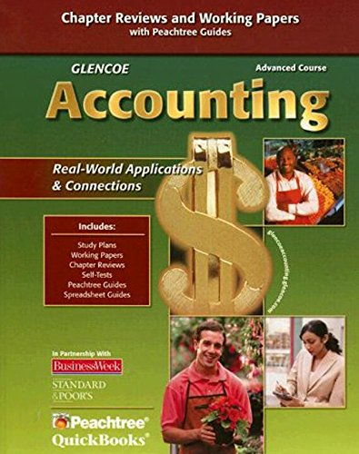 Glencoe Accounting: Advanced Course, Working Papers, Student Edition (GUERRIERI: HS ACCTG)