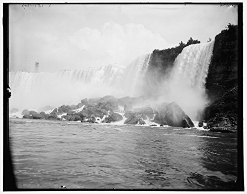 Vintography 16 x 20 Ready to Hang Canvas Wrap American Falls Cave of The Winds Niagara Falls New York 1900 Detriot Publishing 08a