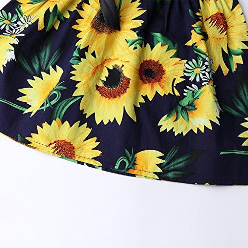 Summer Cotton Girl's Vest Cherry Blossom Girl Dress (Sunflower&b, 7-8years) by MiaoQL (Image #4)