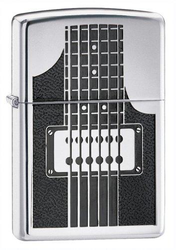 Zippo Electric Guitar High Polish Chrome Pocket Lighter ()