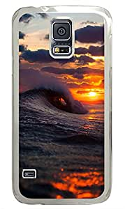 Samsung Galaxy S5 Wave Crashing PC Custom Samsung Galaxy S5 Case Cover Transparent