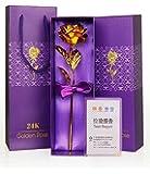 Kids Mandi Rose Flower, 24K Eternal Golden Plated Rose In Gift Box