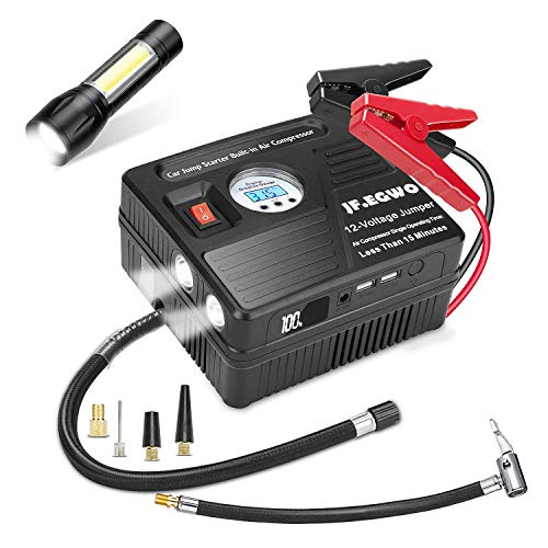 Purchase JF.EGWO 2000A Peak Car Jump Starter with Air Compressor, 120PSI Tire Inflator with Digital ...