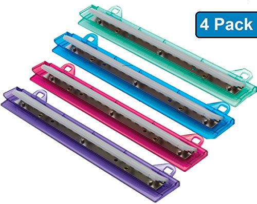 1InTheOffice Binder 3 Hole Punch, Assorted Colors ''4 Pack'' by 1InTheOffice