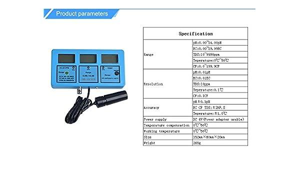 Amazon com: 5 in 1 Water Testing Meter Multi-Parameter Water