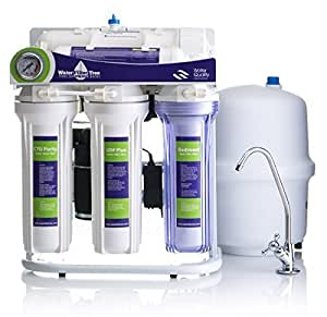 Reverse Osmosis House Water Filter System - 5 stages (RO, CTO, Sediment, UDF and Activated Carbon), Under-sink RO Drinking Water Filtration System