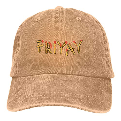 ONE-HEART HR Friyay Adult Cowboy Baseball Caps Denim Hats for Men ()