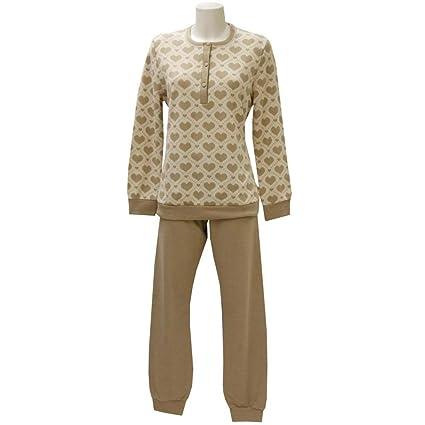 Pijama de mujer (forro polar de manga larga PANNA/BEIGE 46