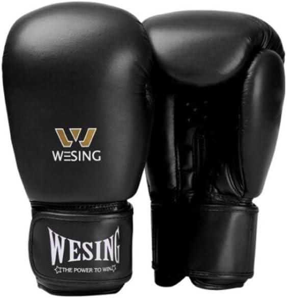 ボクシンググローブ、大人ボクシングトレーニンググローブ、三田手袋、武道は戦い、ムエタイマイクロファイバーボクシンググローブ、ブラック、ブルー、レッド。 黒 12oz