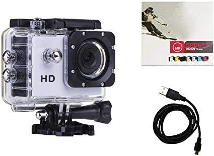 ab_direct_import cámara Sport Blanca 720P + Caja estanca + batería + Cable de Carga + Instrucciones: Amazon.es: Electrónica