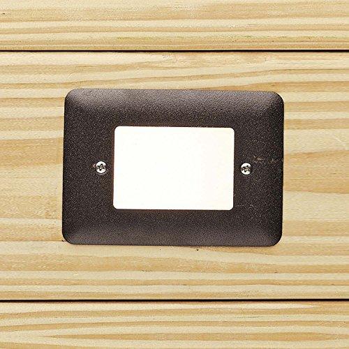 Kichler 15780AZT27R Bronze Mini Step LED Deck Light 12 Volt 2700K Warm White Output
