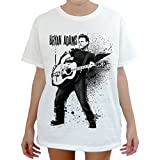 Modman Men's Bryan Adams guitarist Rock Way T-Shirt Medium White