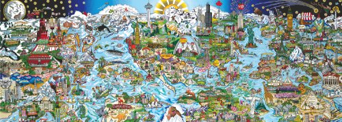 Andrews + Blaine We Are The World Panoramic Puzzle, 1000-Piece
