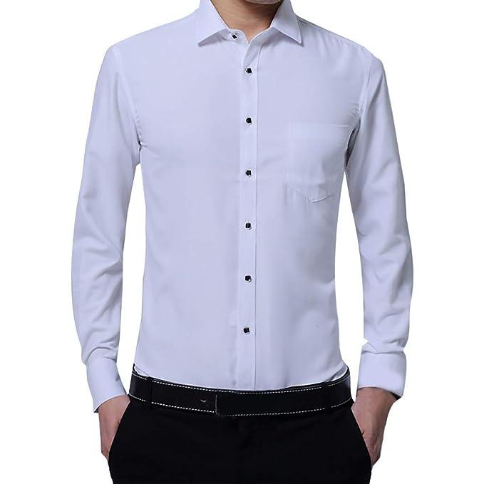 Rawdah Camisas Hombre Manga Larga Camisas Hombre Grandes ...