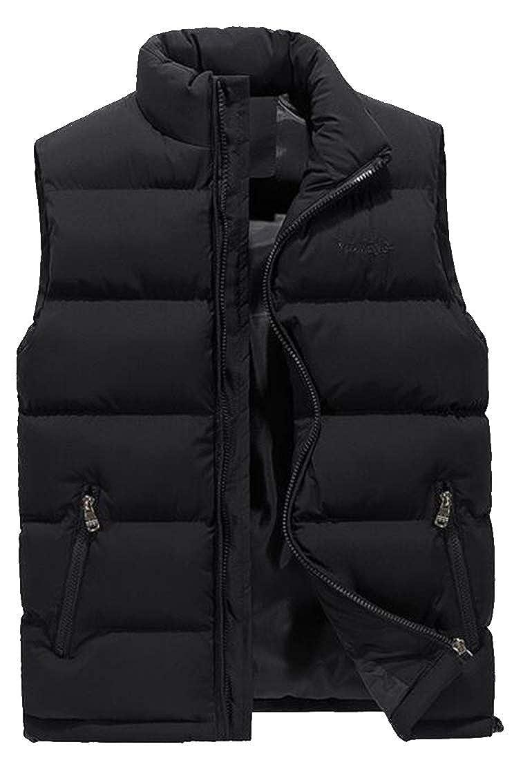 Bloomyma Mens Warm Sleeveless Plus Size Fall /& Winter Full-Zip Down Puffer Vest Down Waistcoat Jacket