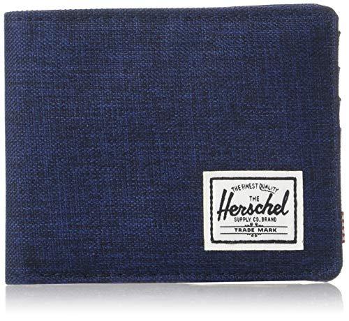 Herschel Supply Co. Men's Roy RFID, Crosshatch/Medieval Blue, One Size
