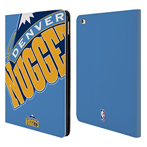 Official NBA Oversized Icon Denver Nuggets Leather Book Wallet Case Cover For iPad Air 2 (Icon Leather Wallet)